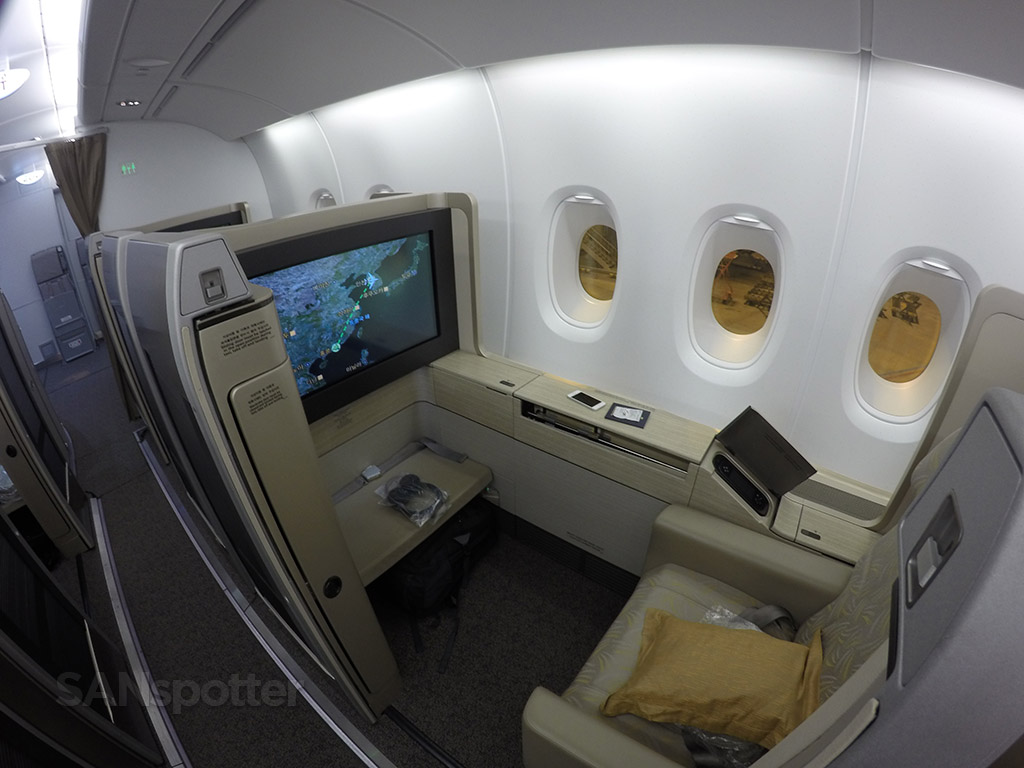 asiana airlines a380 first class suite seat 2K