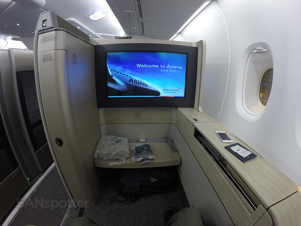 asiana a380 first class suite