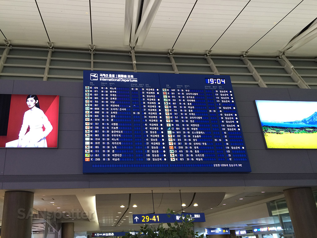seoul incheon airport departures board