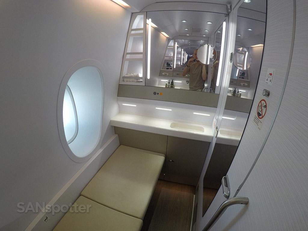 large asiana first class lavatory