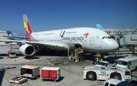 Asiana A380 at LAX
