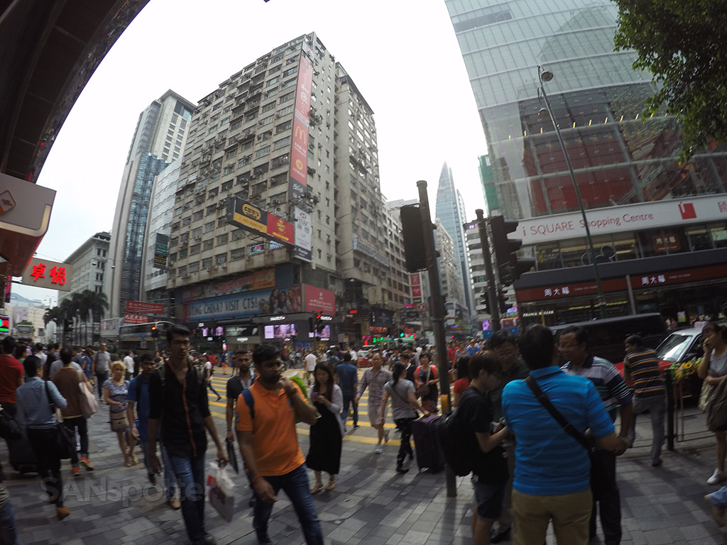 Nathan road intersection hong kong