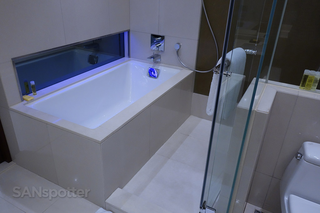 full size bathtub hyatt hong kong