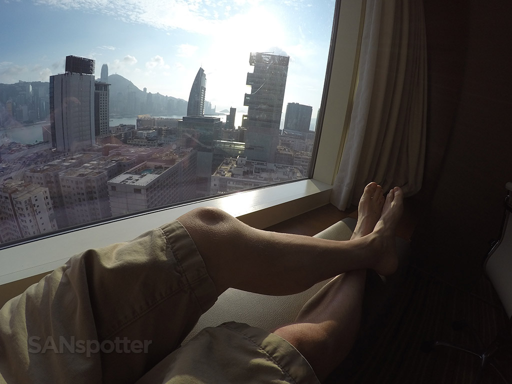 relaxing with a view hyatt hong kong hotel