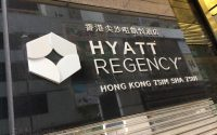 Hyatt Regency Hong Kong sign