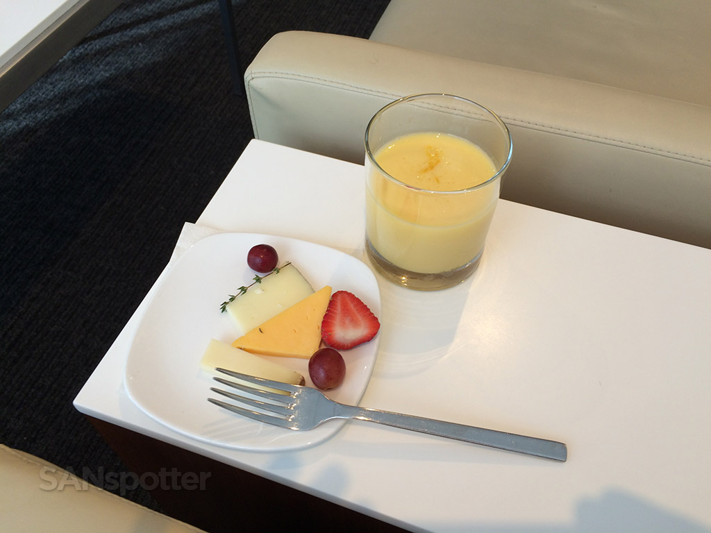 star alliance lounge first class snack