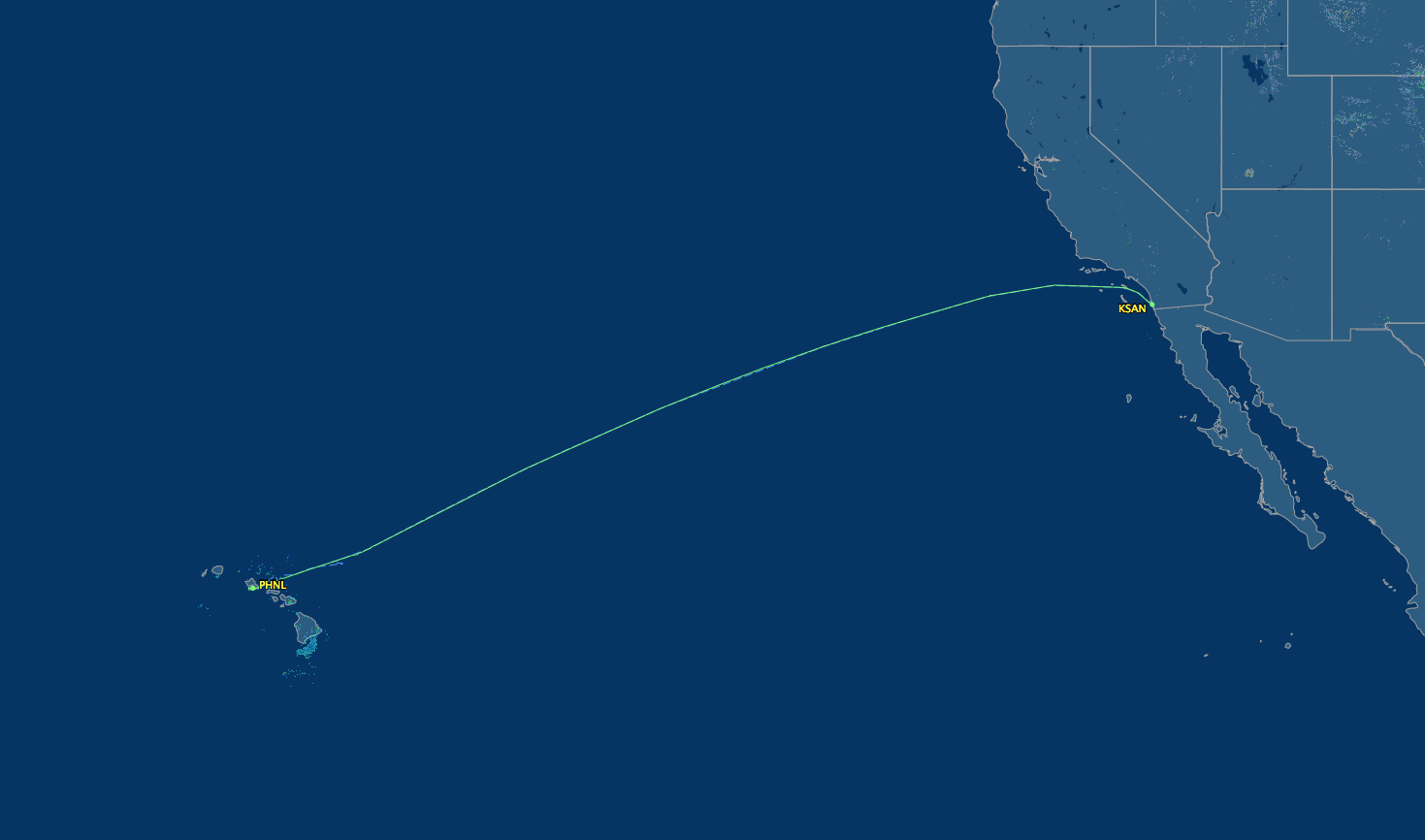 san diego to honolulu route map