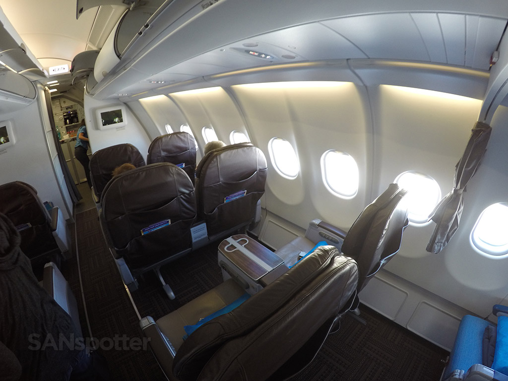 hawaiian airlines a330 first class cabin