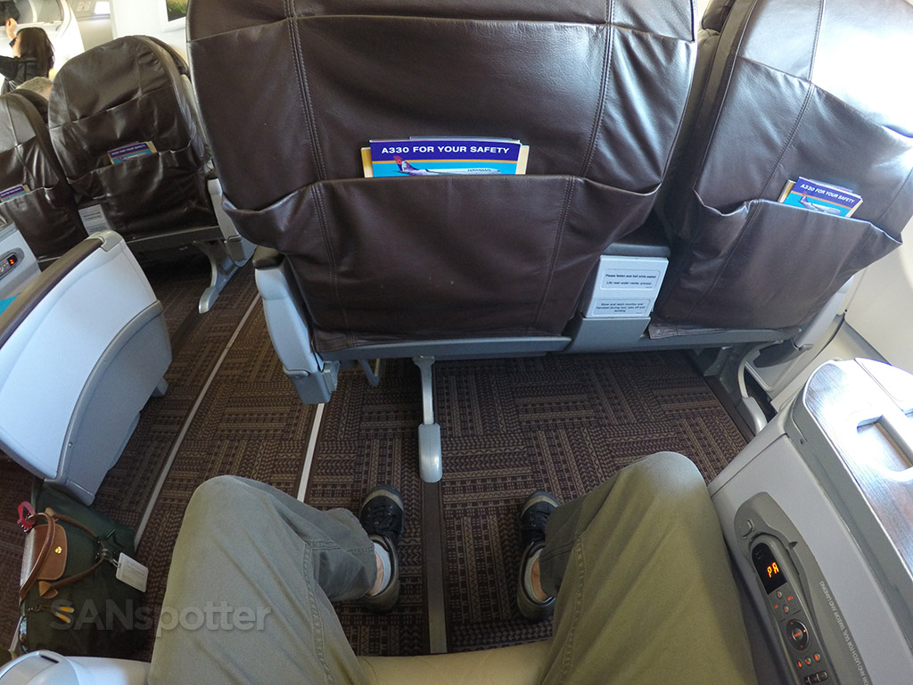 hawaiian airlines a330 first class leg room