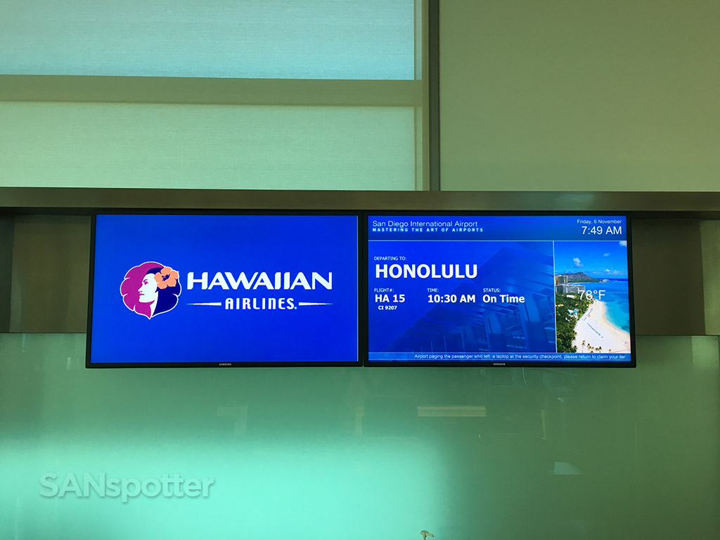 hawaiian airlines flight information board san diego