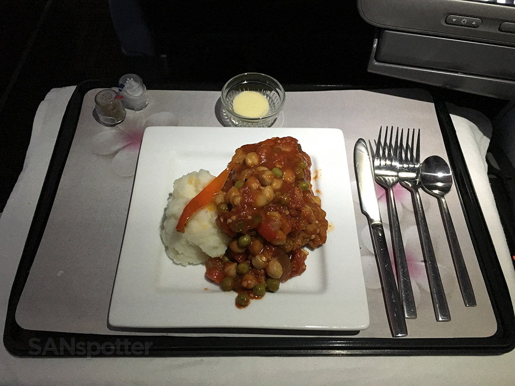 hawaiian airlines first class main course