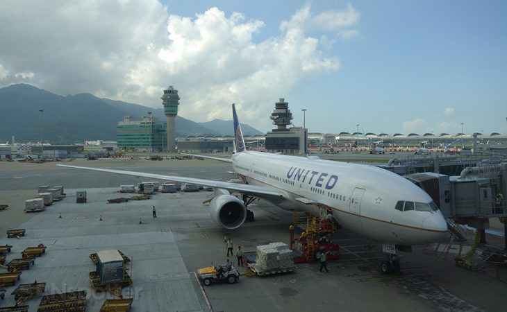 UA 777-200 hong kong