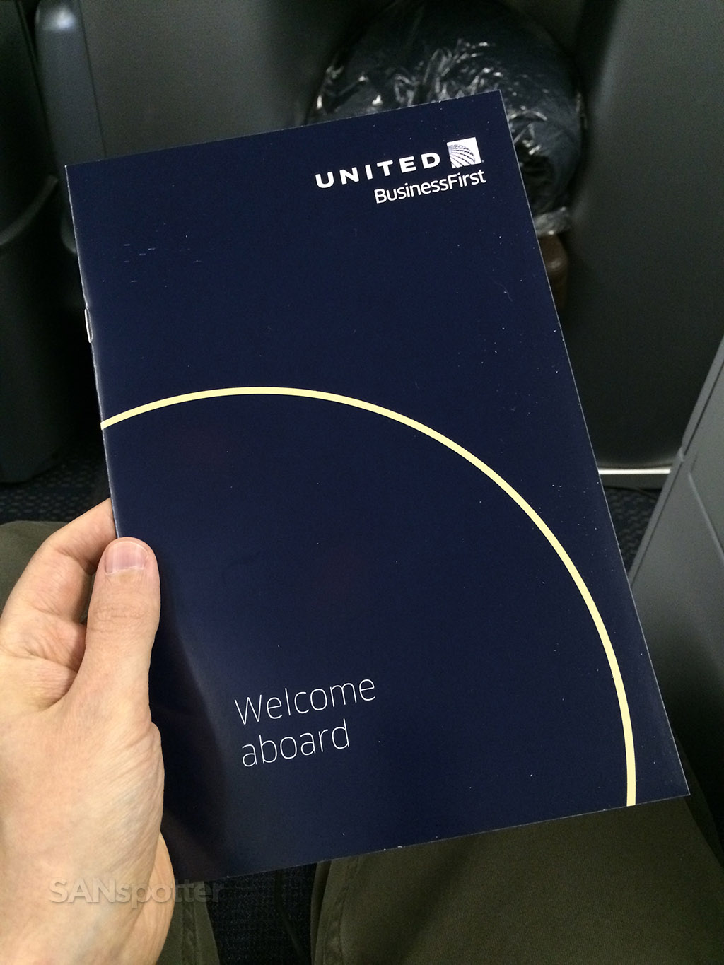 United BusinessFirst menu cover