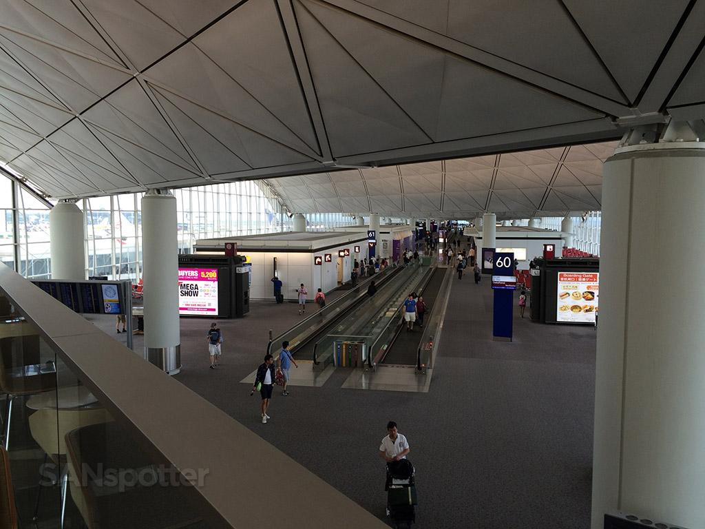 Overlooking the departures level
