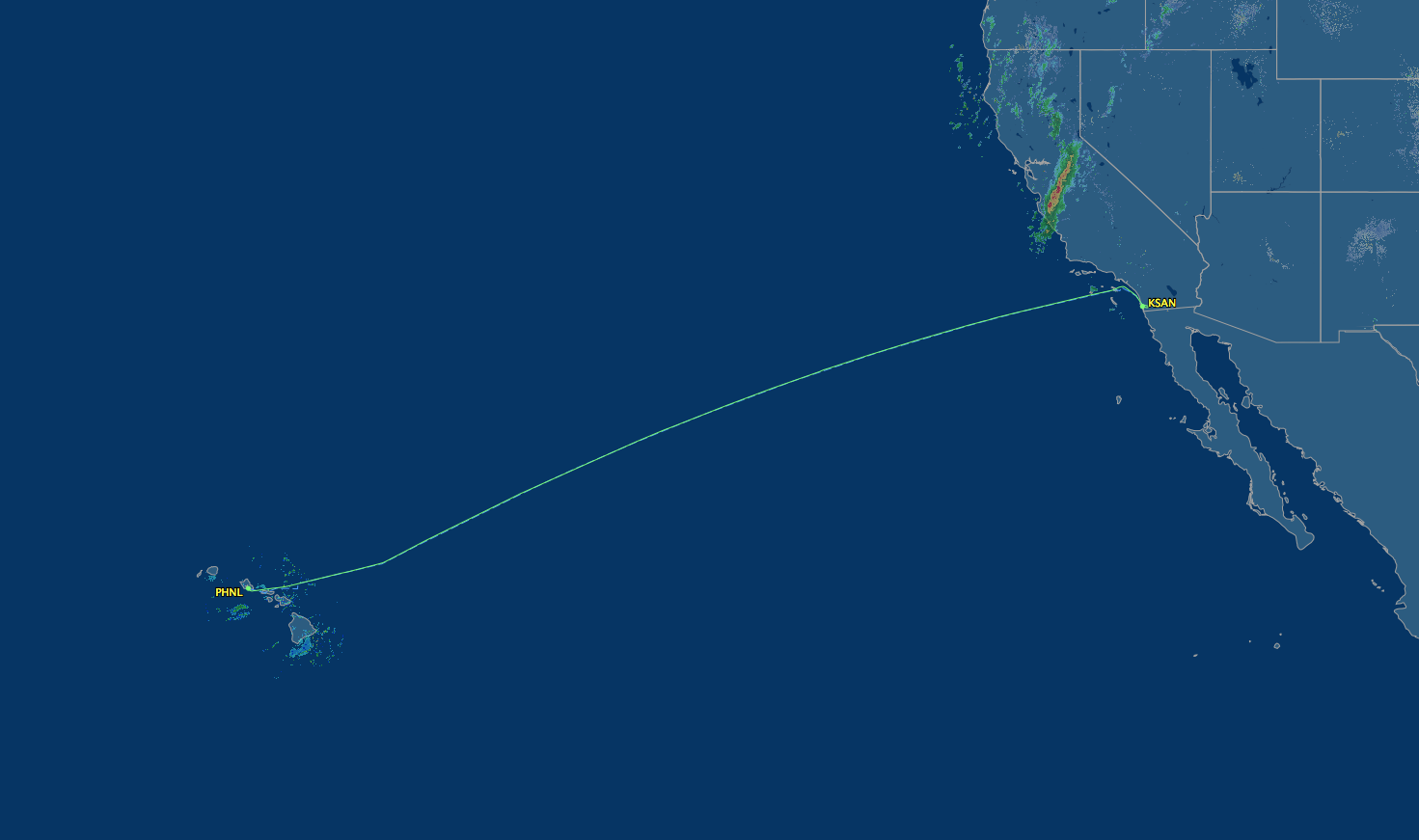 route from honolulu to san diego