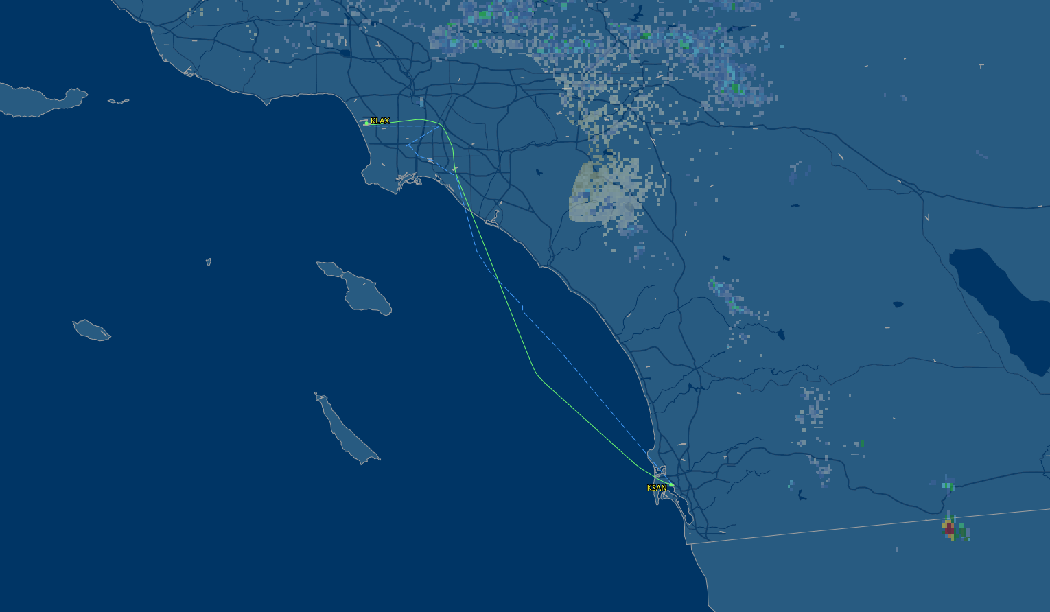 san lax route map