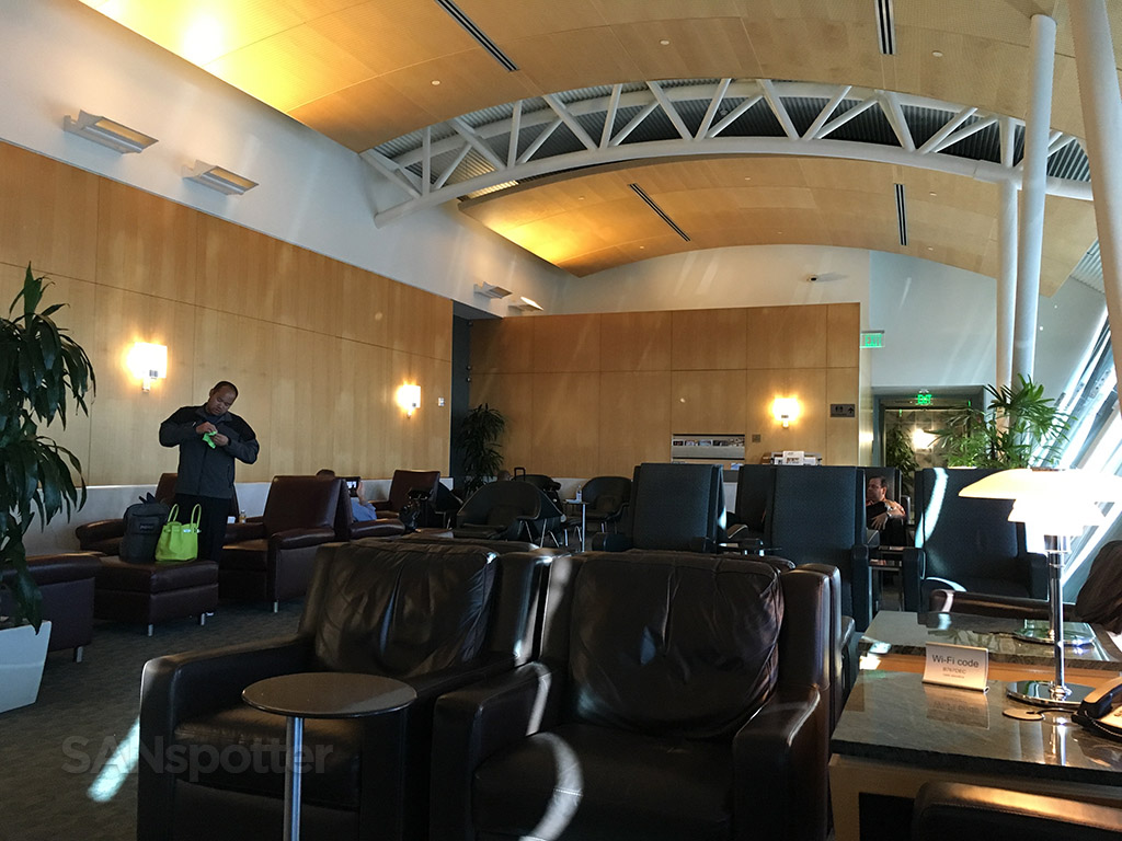 lax flagship lounge seating