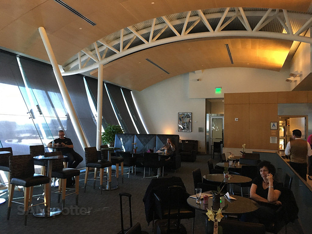 interior of the flagship lounge