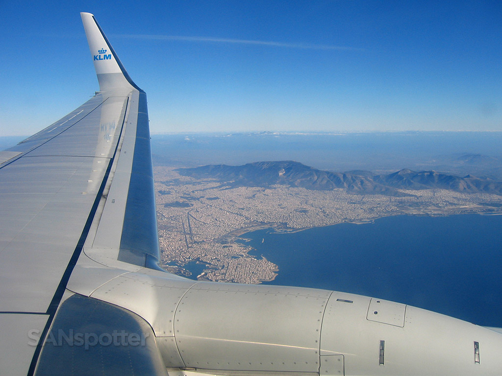 athens greece from the air