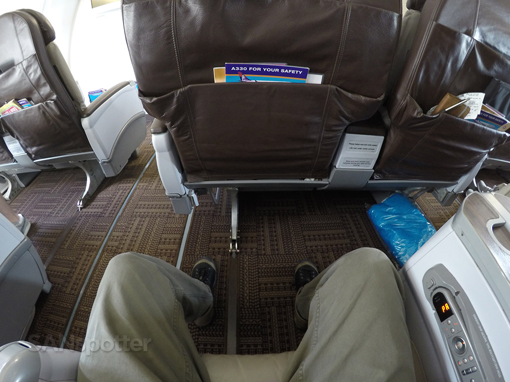 hawaiian airlines first class leg room