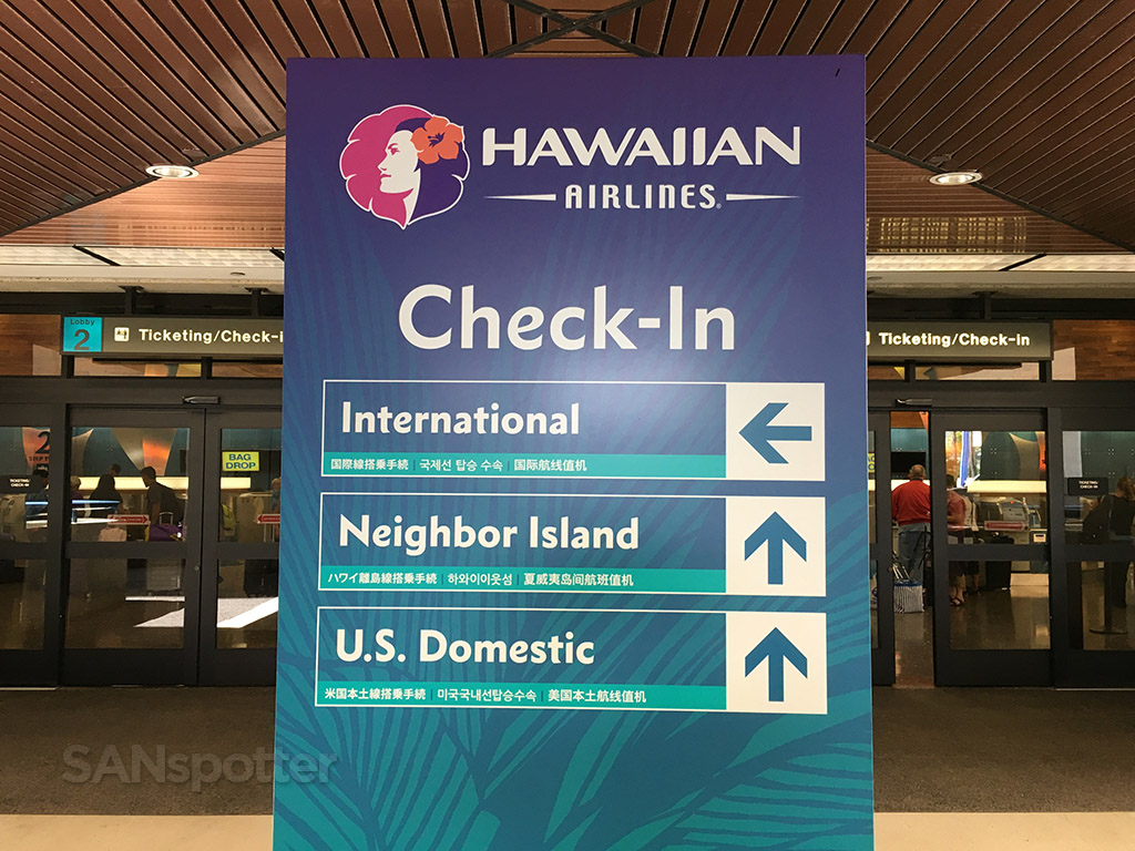 hawaiian airlines signage