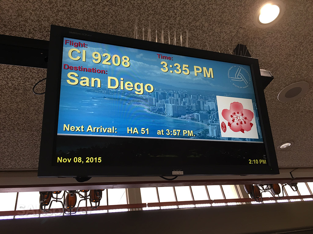 honolulu airport flight information display