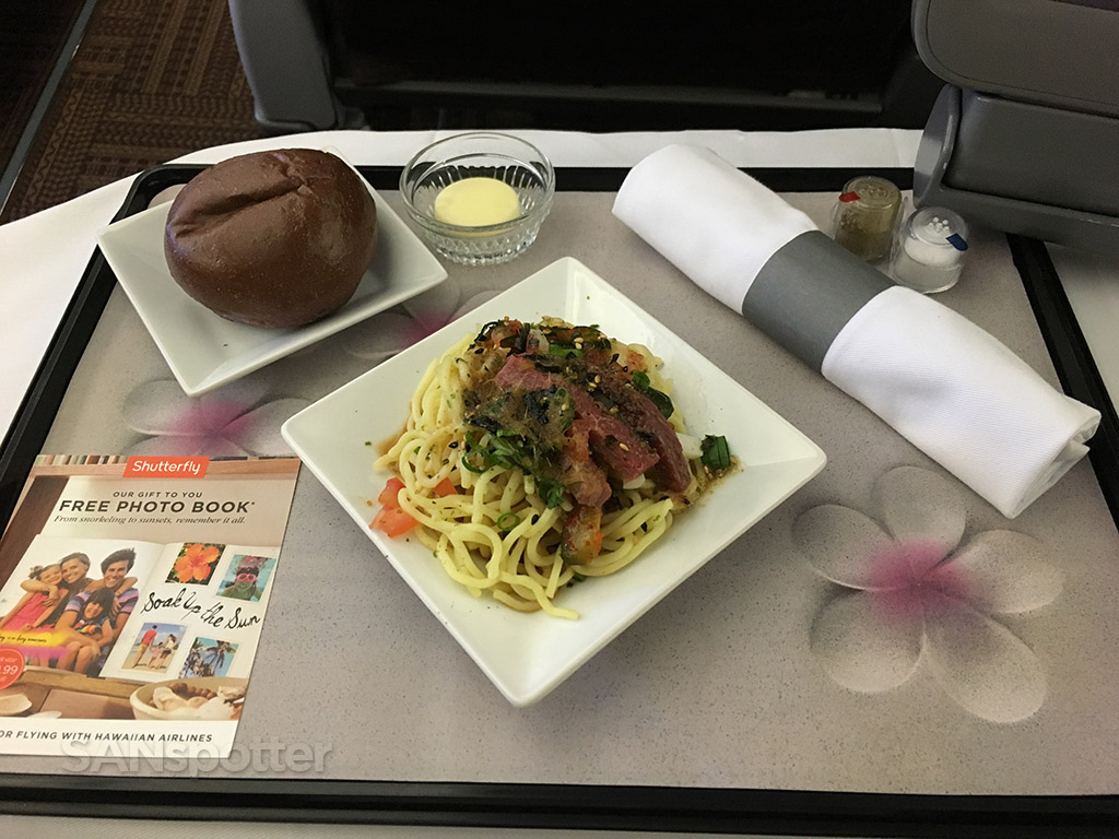 hawaiian airlines first class appetizer