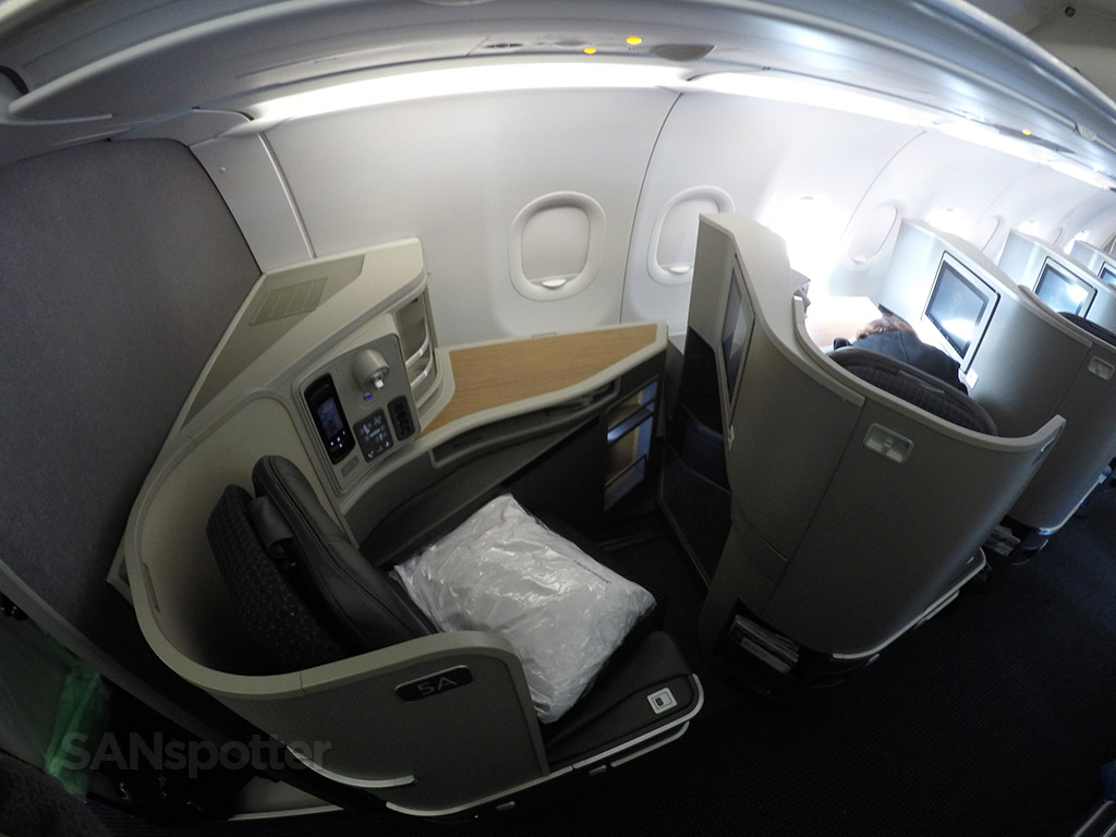 first class seat privacy