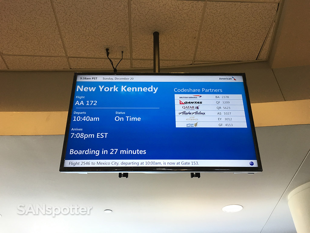 american airlines flight information board lax