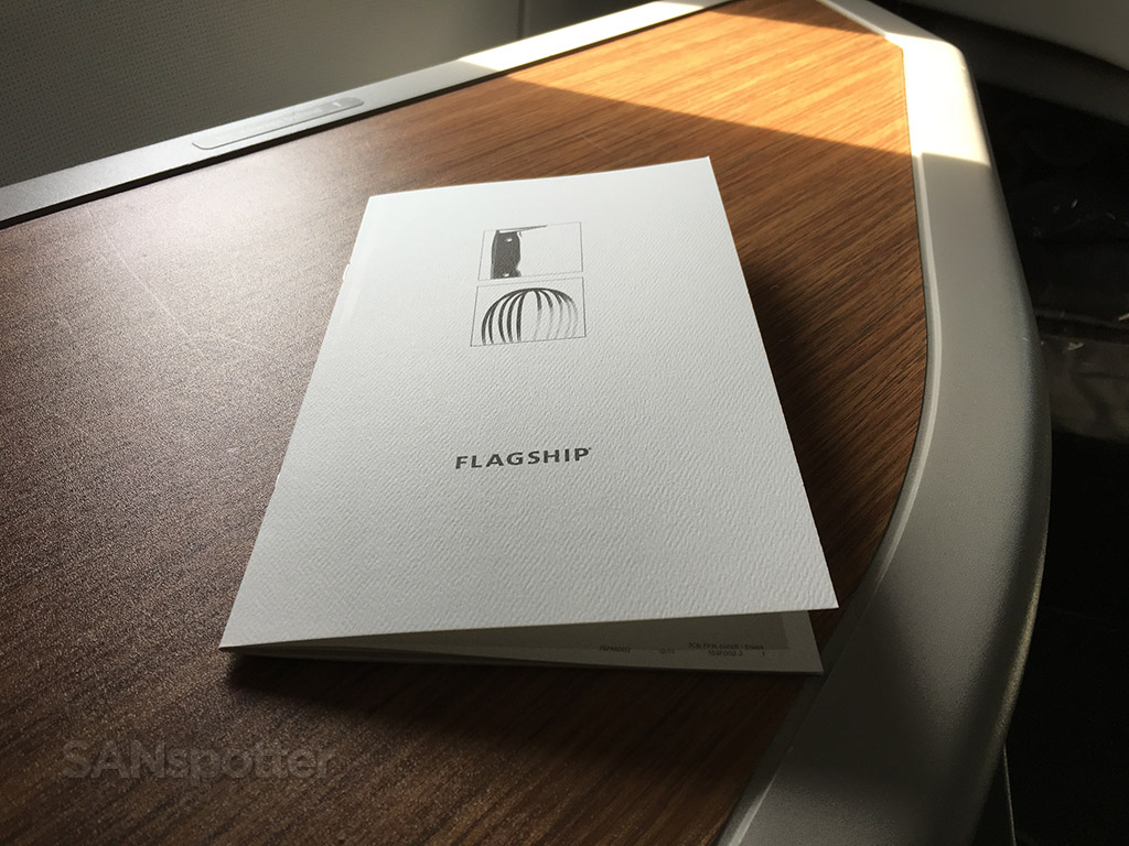 american airlines flagship menu