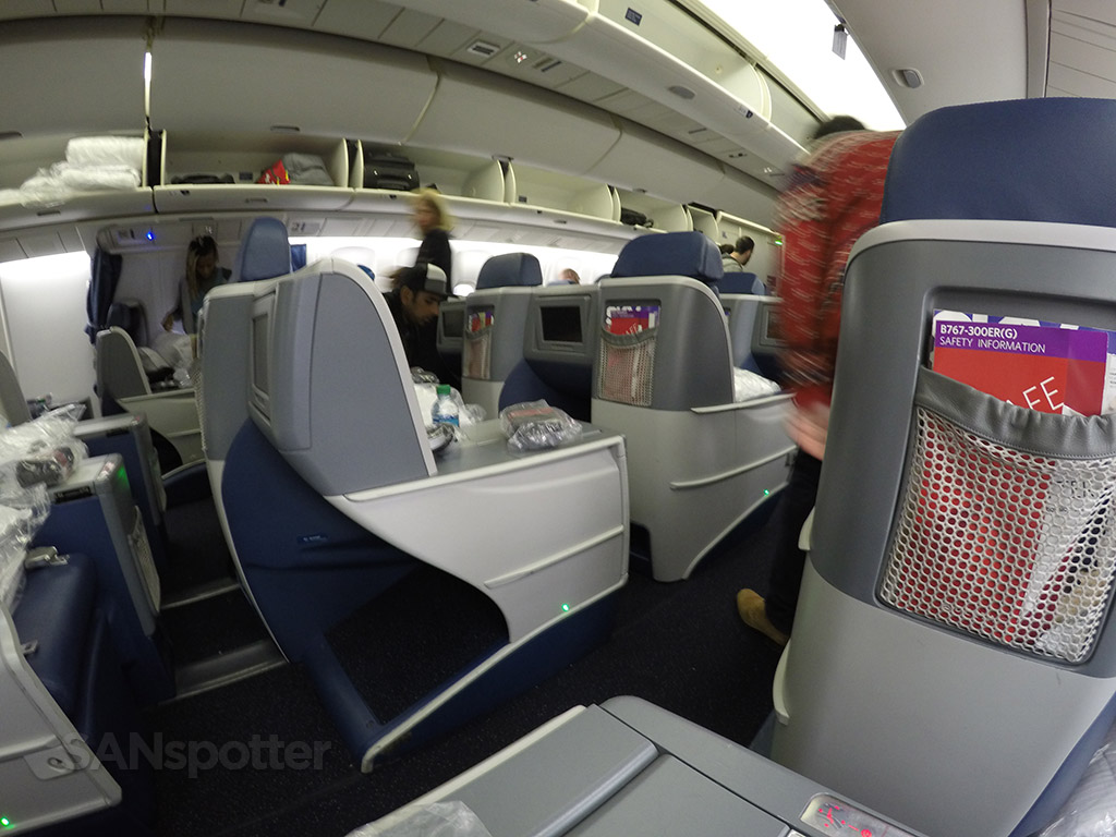 delta one business class cabin