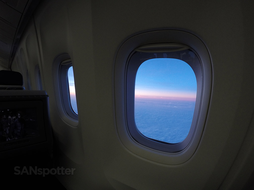 sunset from 36,000 feet