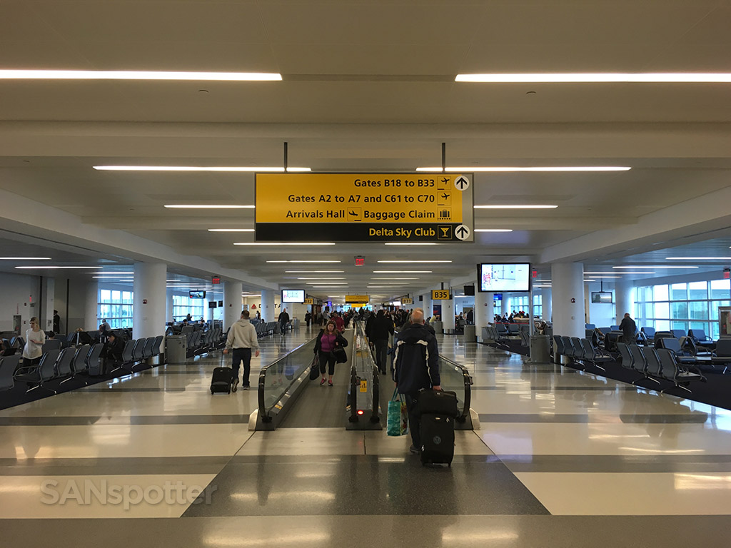 inside terminal 4 at JFK airport