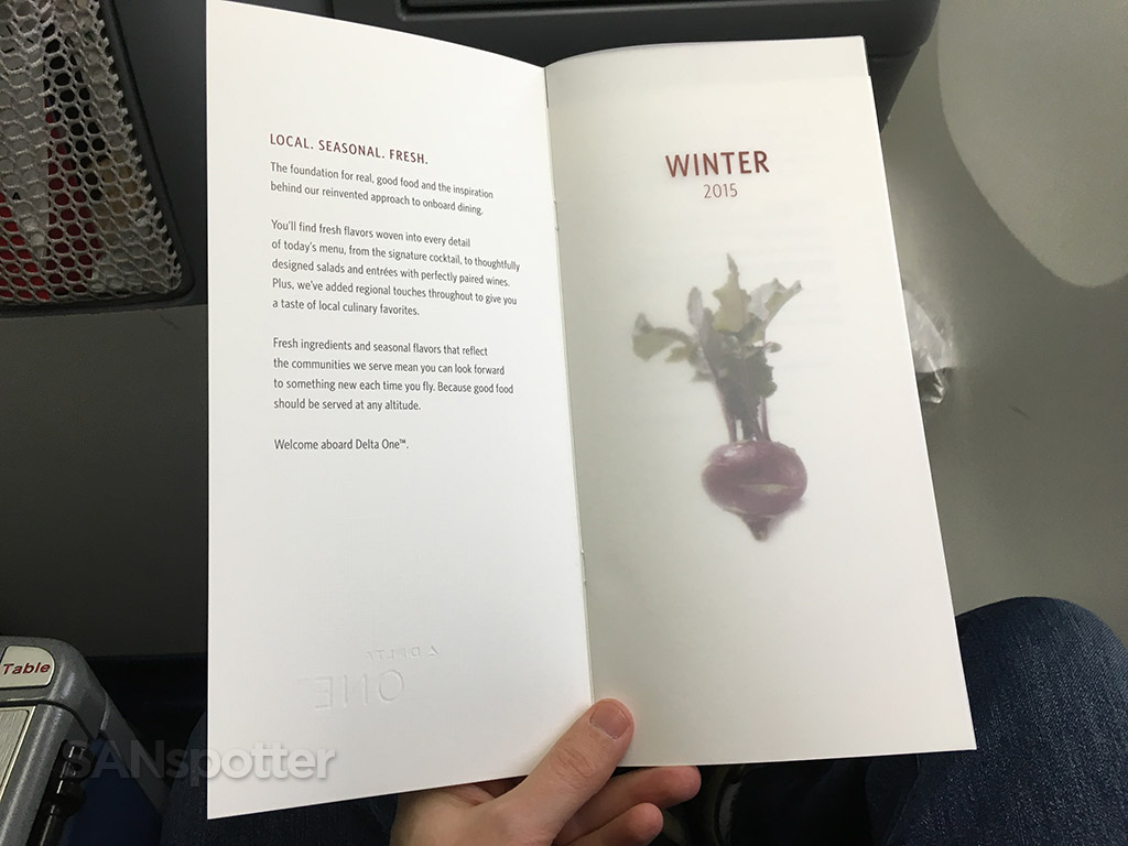 winter 2015 Delta One menu