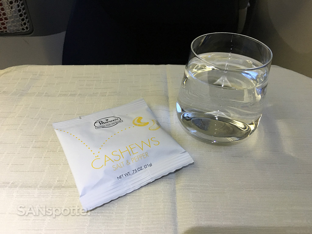 delta one business class nuts in a bag