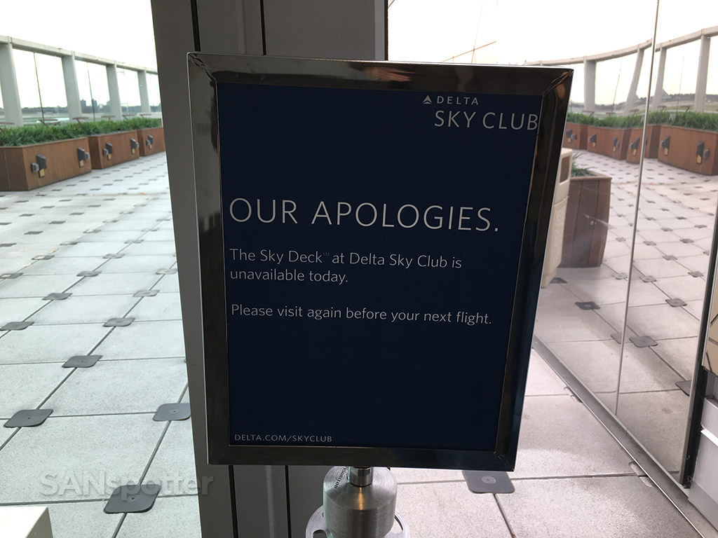 delta sky deck closed