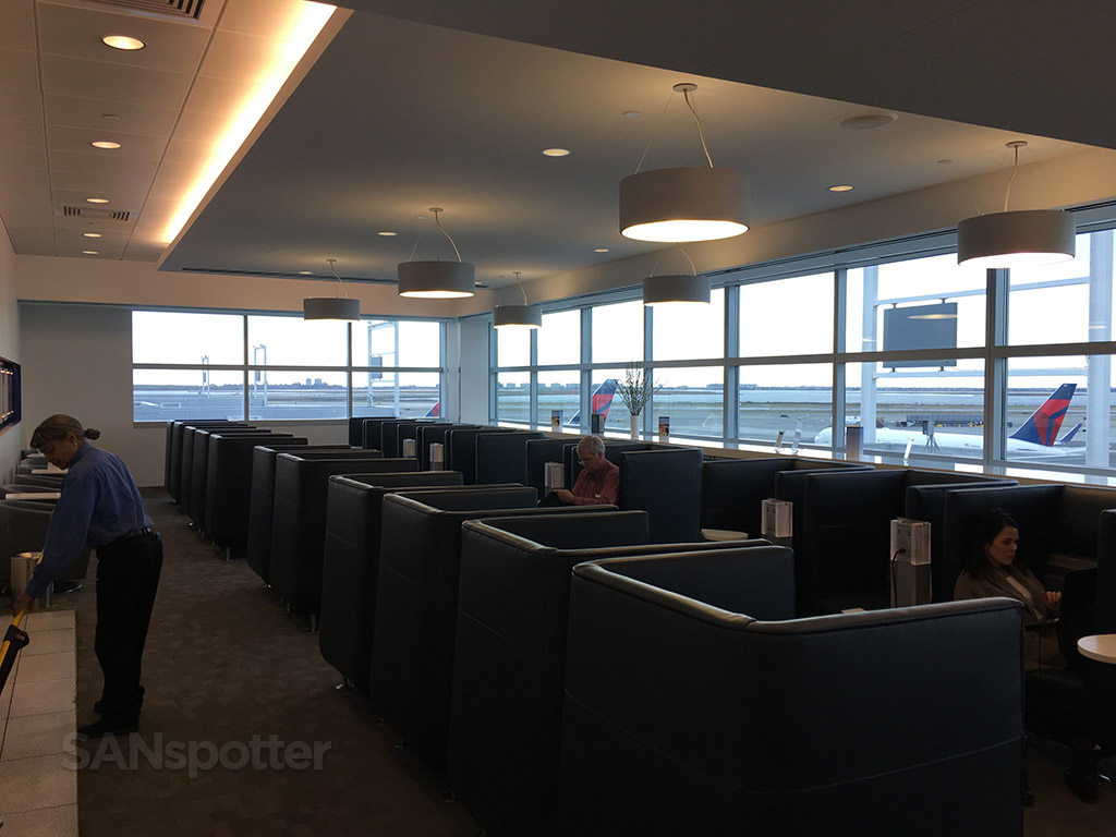 semi-private seating delta sky club