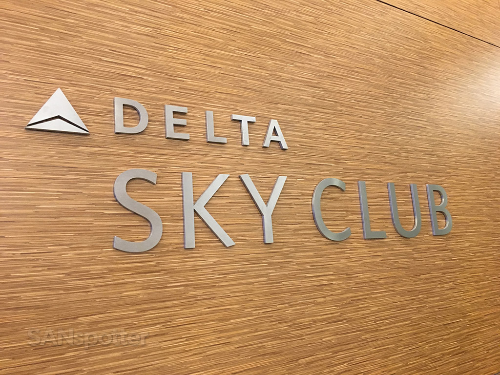 Delta Sky Club signage