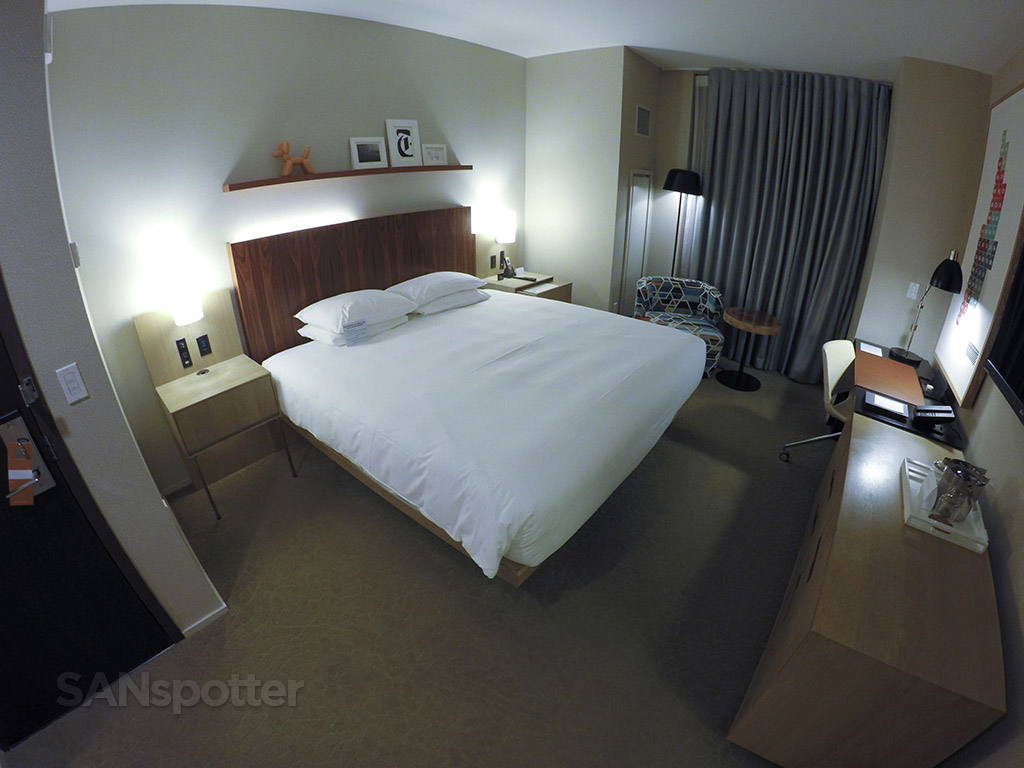 wide angle room view