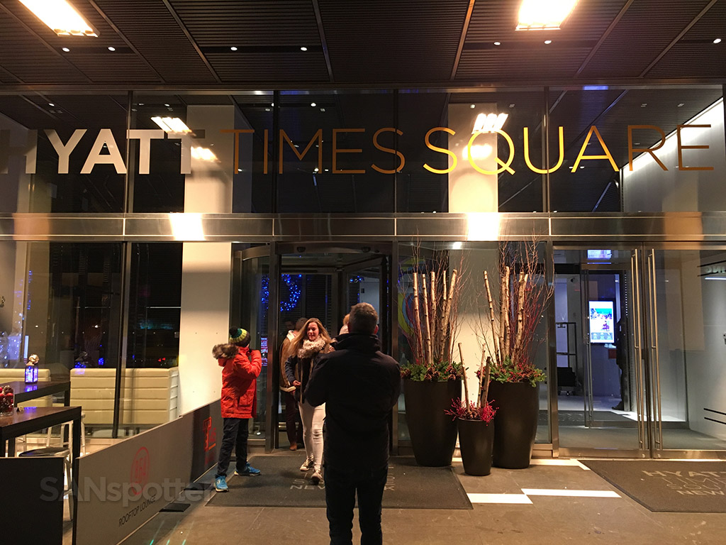 hyatt times square entrance