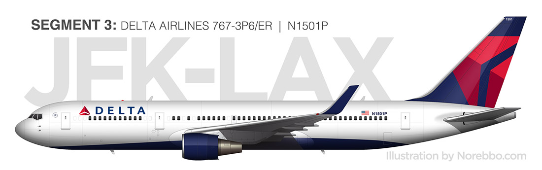 delta 767-300 illustration