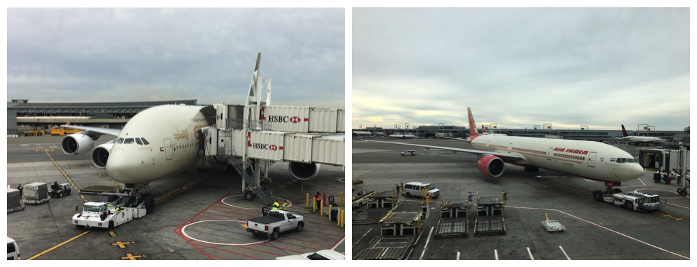 Etihad and Air India at JFK airport