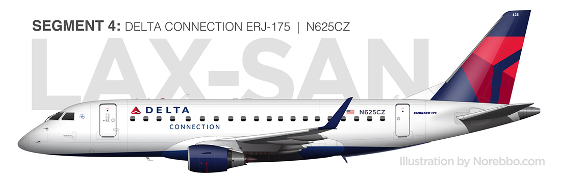 delta connection erj-175 illustration