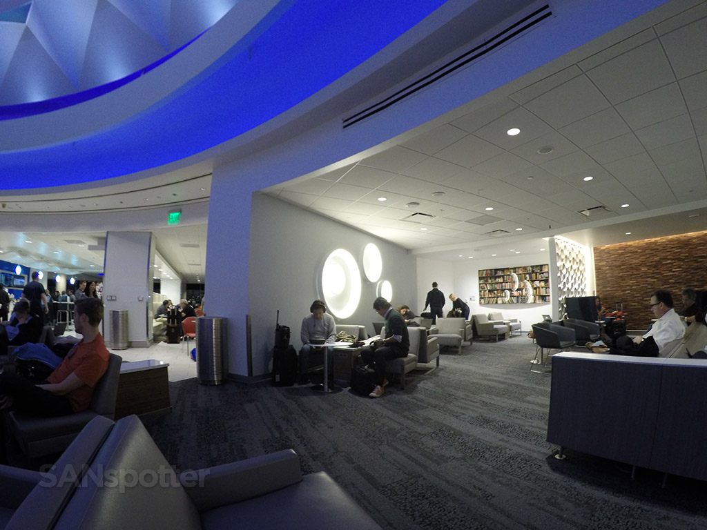 delta sky club lax interior