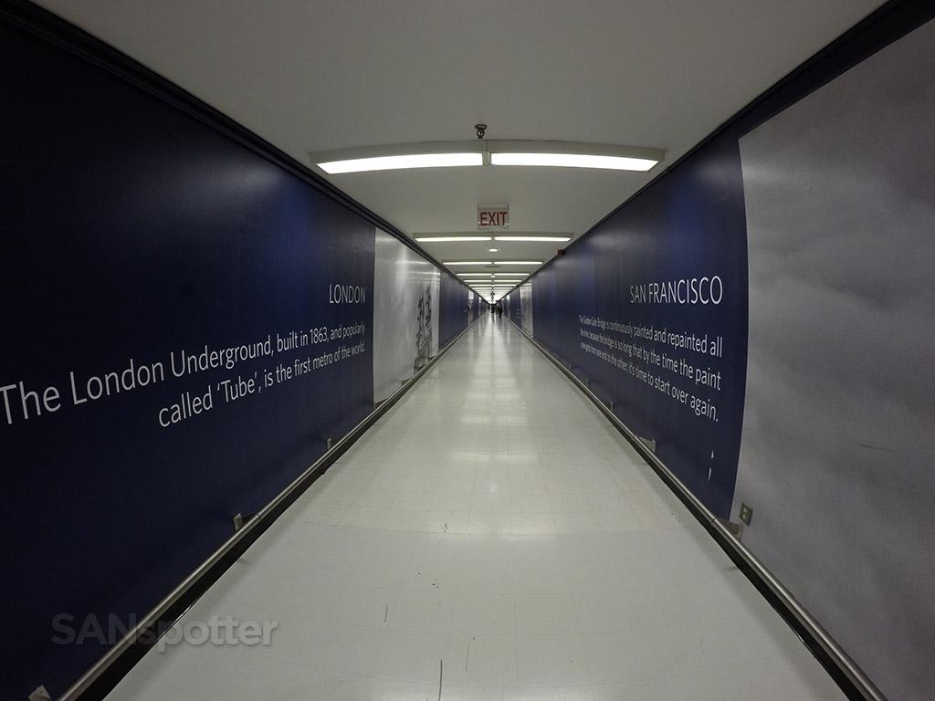 LAX underground walkway