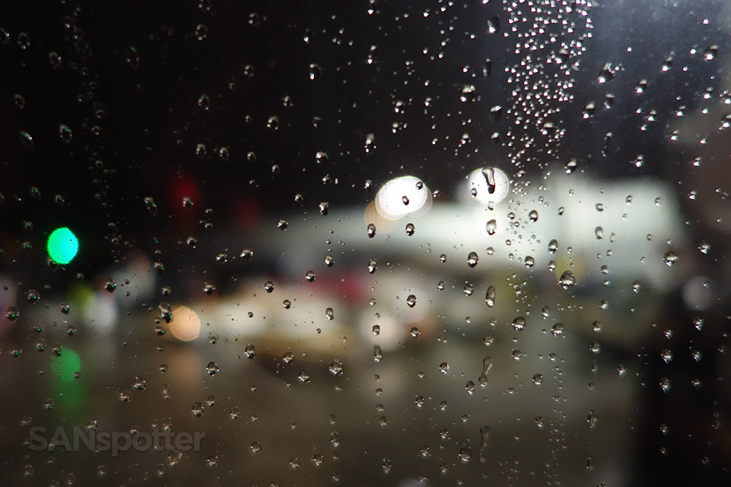 rainy night at LAX
