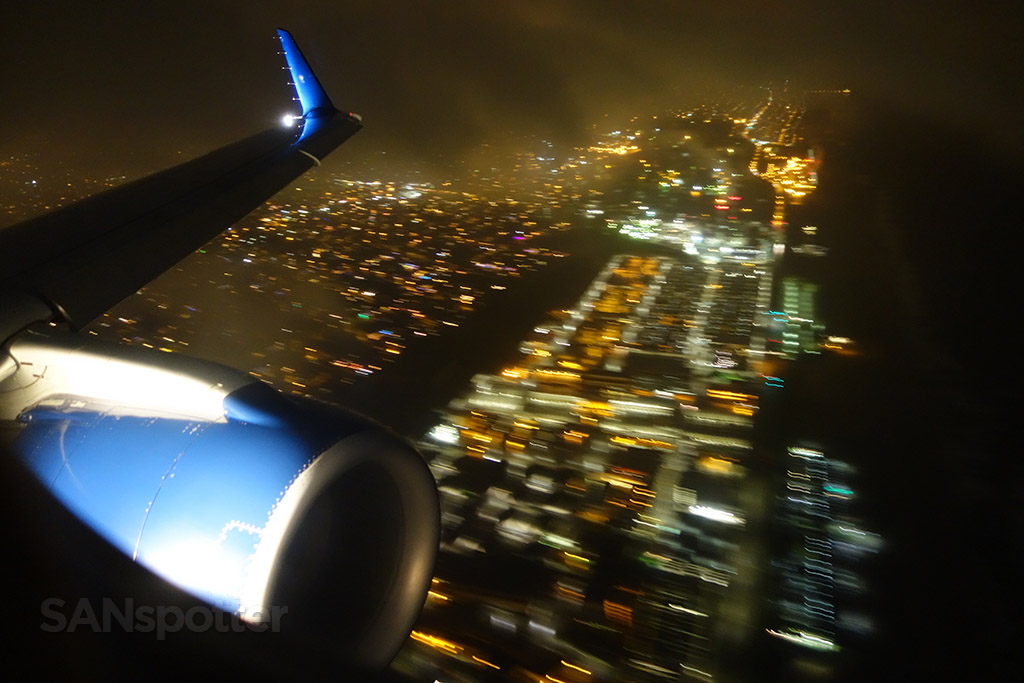 nighttime departure LAX
