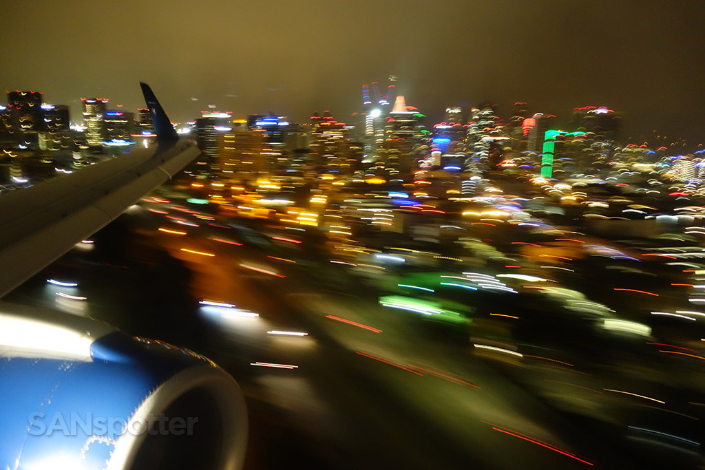 final approach san diego at night
