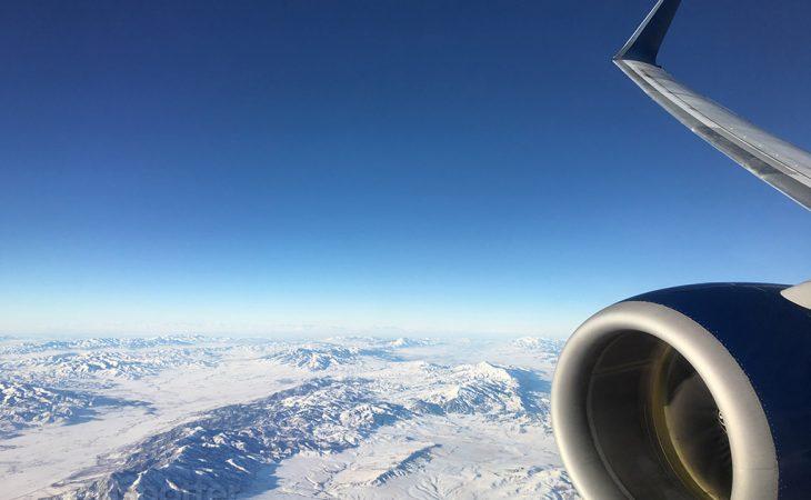 SLC approach delta 737-800