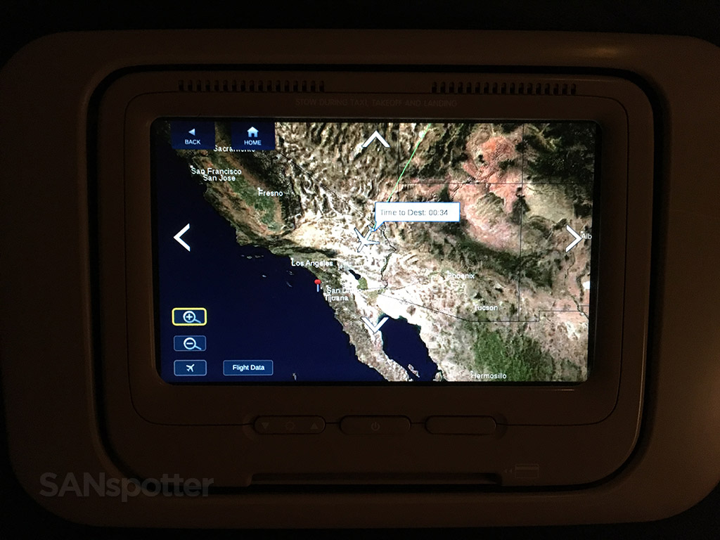 delta in flight map display